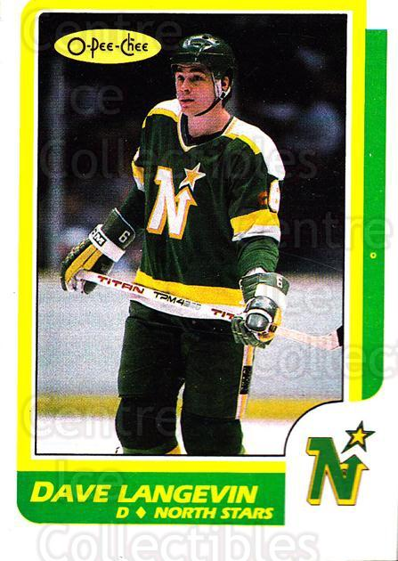 1986-87 O-Pee-Chee #218 Dave Langevin<br/>7 In Stock - $1.00 each - <a href=https://centericecollectibles.foxycart.com/cart?name=1986-87%20O-Pee-Chee%20%23218%20Dave%20Langevin...&quantity_max=7&price=$1.00&code=272442 class=foxycart> Buy it now! </a>