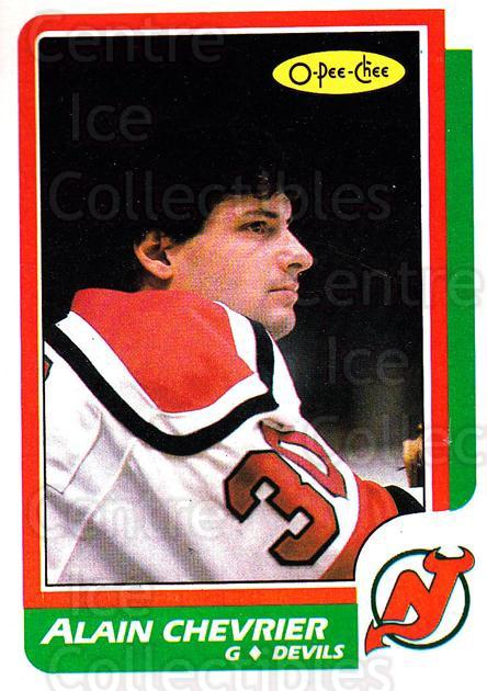 1986-87 O-Pee-Chee #225 Alain Chevrier<br/>2 In Stock - $1.00 each - <a href=https://centericecollectibles.foxycart.com/cart?name=1986-87%20O-Pee-Chee%20%23225%20Alain%20Chevrier...&quantity_max=2&price=$1.00&code=272449 class=foxycart> Buy it now! </a>