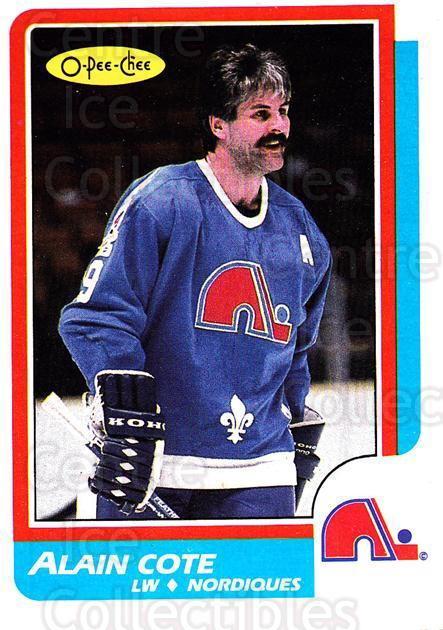 1986-87 O-Pee-Chee #233 Alain Cote<br/>5 In Stock - $1.00 each - <a href=https://centericecollectibles.foxycart.com/cart?name=1986-87%20O-Pee-Chee%20%23233%20Alain%20Cote...&quantity_max=5&price=$1.00&code=272455 class=foxycart> Buy it now! </a>