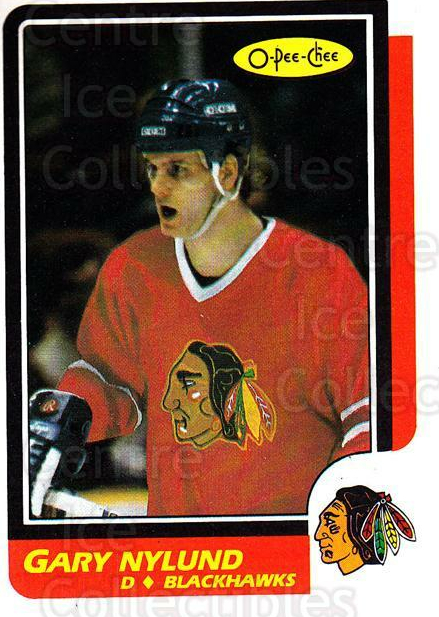 1986-87 O-Pee-Chee #243 Gary Nylund<br/>5 In Stock - $1.00 each - <a href=https://centericecollectibles.foxycart.com/cart?name=1986-87%20O-Pee-Chee%20%23243%20Gary%20Nylund...&quantity_max=5&price=$1.00&code=272464 class=foxycart> Buy it now! </a>