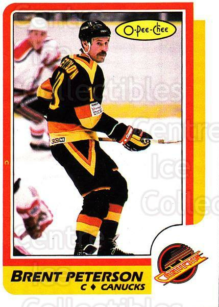 1986-87 O-Pee-Chee #251 Brent Peterson<br/>4 In Stock - $1.00 each - <a href=https://centericecollectibles.foxycart.com/cart?name=1986-87%20O-Pee-Chee%20%23251%20Brent%20Peterson...&quantity_max=4&price=$1.00&code=272470 class=foxycart> Buy it now! </a>