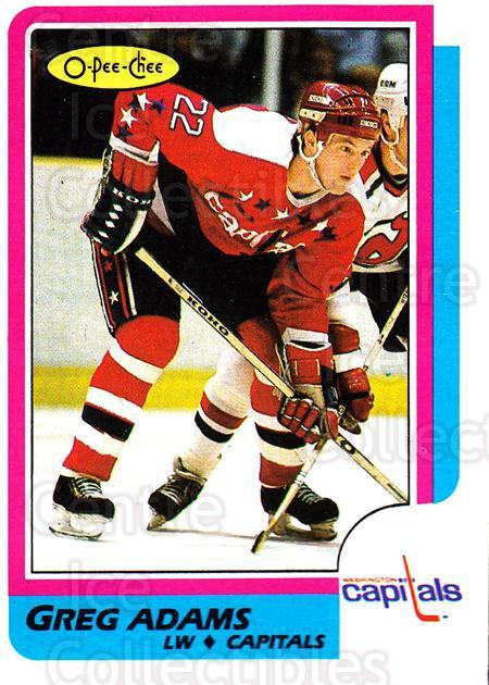 1986-87 O-Pee-Chee #253 Greg Adams<br/>1 In Stock - $1.00 each - <a href=https://centericecollectibles.foxycart.com/cart?name=1986-87%20O-Pee-Chee%20%23253%20Greg%20Adams...&quantity_max=1&price=$1.00&code=272472 class=foxycart> Buy it now! </a>