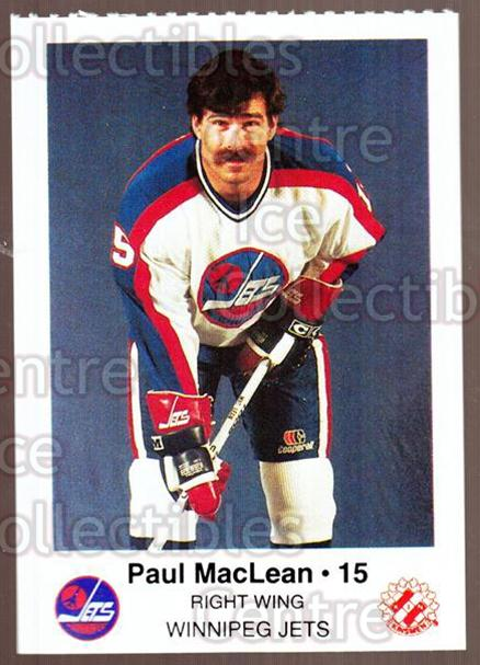 1984-85 Winnipeg Jets Police #13 Paul MacLean<br/>5 In Stock - $3.00 each - <a href=https://centericecollectibles.foxycart.com/cart?name=1984-85%20Winnipeg%20Jets%20Police%20%2313%20Paul%20MacLean...&quantity_max=5&price=$3.00&code=27251 class=foxycart> Buy it now! </a>