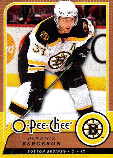 2008-09 O-Pee-chee #34 Patrice Bergeron<br/>4 In Stock - $2.00 each - <a href=https://centericecollectibles.foxycart.com/cart?name=2008-09%20O-Pee-chee%20%2334%20Patrice%20Bergero...&quantity_max=4&price=$2.00&code=272524 class=foxycart> Buy it now! </a>