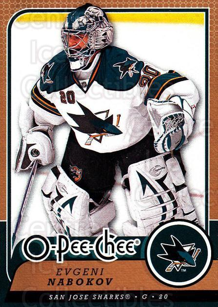 2008-09 O-Pee-chee #58 Evgeni Nabokov<br/>5 In Stock - $1.00 each - <a href=https://centericecollectibles.foxycart.com/cart?name=2008-09%20O-Pee-chee%20%2358%20Evgeni%20Nabokov...&quantity_max=5&price=$1.00&code=272548 class=foxycart> Buy it now! </a>
