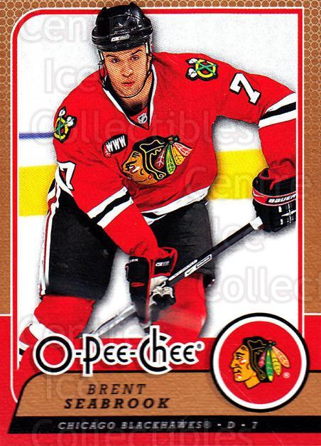 2008-09 O-Pee-chee #92 Brent Seabrook<br/>4 In Stock - $1.00 each - <a href=https://centericecollectibles.foxycart.com/cart?name=2008-09%20O-Pee-chee%20%2392%20Brent%20Seabrook...&quantity_max=4&price=$1.00&code=272582 class=foxycart> Buy it now! </a>