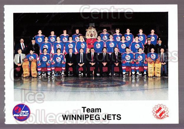 1984-85 Winnipeg Jets Police #24 Winnipeg Jets, Team Photo<br/>4 In Stock - $2.00 each - <a href=https://centericecollectibles.foxycart.com/cart?name=1984-85%20Winnipeg%20Jets%20Police%20%2324%20Winnipeg%20Jets,%20...&price=$2.00&code=27262 class=foxycart> Buy it now! </a>