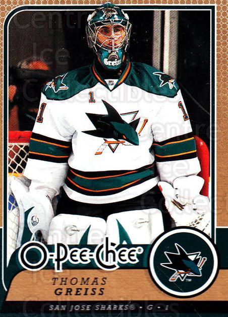 2008-09 O-Pee-chee #206 Thomas Greiss<br/>1 In Stock - $1.00 each - <a href=https://centericecollectibles.foxycart.com/cart?name=2008-09%20O-Pee-chee%20%23206%20Thomas%20Greiss...&quantity_max=1&price=$1.00&code=272696 class=foxycart> Buy it now! </a>