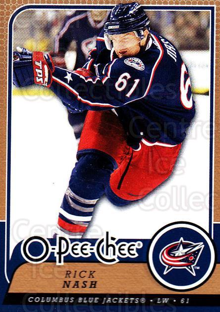 2008-09 O-Pee-chee #447 Rick Nash<br/>4 In Stock - $1.00 each - <a href=https://centericecollectibles.foxycart.com/cart?name=2008-09%20O-Pee-chee%20%23447%20Rick%20Nash...&quantity_max=4&price=$1.00&code=272937 class=foxycart> Buy it now! </a>