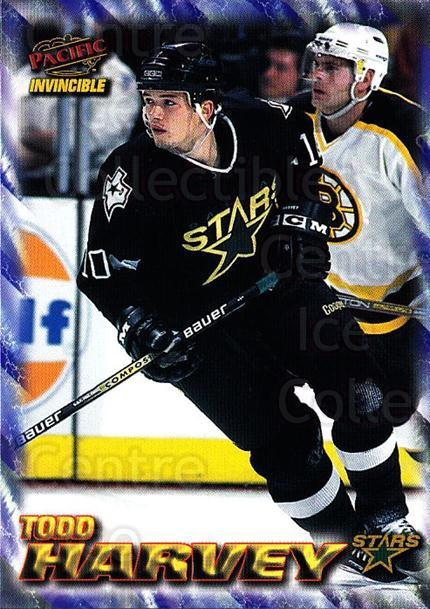 1997-98 Invincible NHL Regime #60 Todd Harvey<br/>5 In Stock - $1.00 each - <a href=https://centericecollectibles.foxycart.com/cart?name=1997-98%20Invincible%20NHL%20Regime%20%2360%20Todd%20Harvey...&quantity_max=5&price=$1.00&code=272996 class=foxycart> Buy it now! </a>