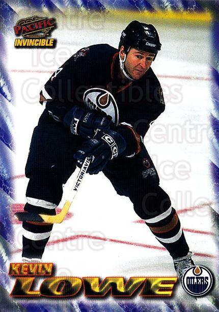 1997-98 Pacific Invincible NHL Regime #78 Kevin Lowe<br/>4 In Stock - $1.00 each - <a href=https://centericecollectibles.foxycart.com/cart?name=1997-98%20Pacific%20Invincible%20NHL%20Regime%20%2378%20Kevin%20Lowe...&quantity_max=4&price=$1.00&code=273005 class=foxycart> Buy it now! </a>