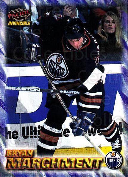 1997-98 Pacific Invincible NHL Regime #79 Bryan Marchment<br/>3 In Stock - $1.00 each - <a href=https://centericecollectibles.foxycart.com/cart?name=1997-98%20Pacific%20Invincible%20NHL%20Regime%20%2379%20Bryan%20Marchment...&quantity_max=3&price=$1.00&code=273006 class=foxycart> Buy it now! </a>