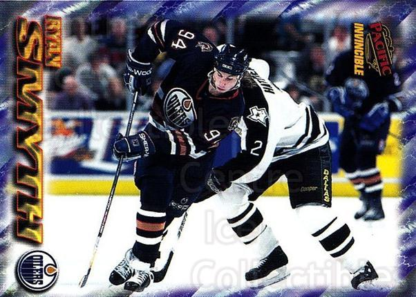 1997-98 Invincible NHL Regime #83 Ryan Smyth<br/>3 In Stock - $1.00 each - <a href=https://centericecollectibles.foxycart.com/cart?name=1997-98%20Invincible%20NHL%20Regime%20%2383%20Ryan%20Smyth...&quantity_max=3&price=$1.00&code=273010 class=foxycart> Buy it now! </a>