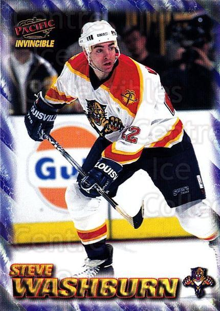 1997-98 Pacific Invincible NHL Regime #90 Steve Washburn<br/>2 In Stock - $1.00 each - <a href=https://centericecollectibles.foxycart.com/cart?name=1997-98%20Pacific%20Invincible%20NHL%20Regime%20%2390%20Steve%20Washburn...&quantity_max=2&price=$1.00&code=273017 class=foxycart> Buy it now! </a>
