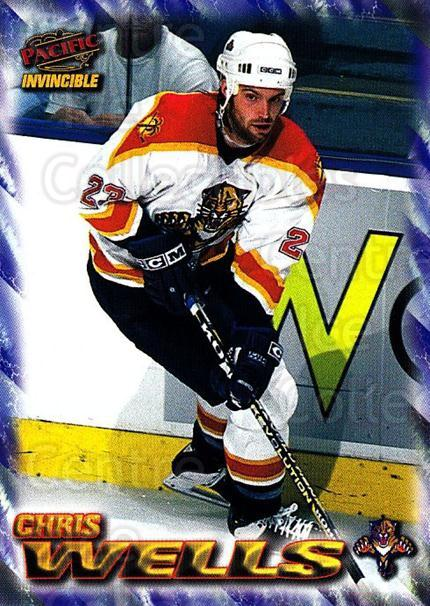 1997-98 Pacific Invincible NHL Regime #91 Chris Wells<br/>3 In Stock - $1.00 each - <a href=https://centericecollectibles.foxycart.com/cart?name=1997-98%20Pacific%20Invincible%20NHL%20Regime%20%2391%20Chris%20Wells...&quantity_max=3&price=$1.00&code=273018 class=foxycart> Buy it now! </a>