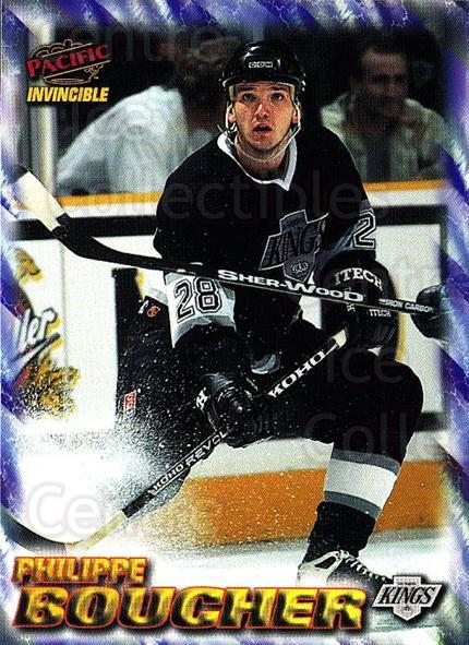 1997-98 Pacific Invincible NHL Regime #92 Philippe Boucher<br/>4 In Stock - $1.00 each - <a href=https://centericecollectibles.foxycart.com/cart?name=1997-98%20Pacific%20Invincible%20NHL%20Regime%20%2392%20Philippe%20Bouche...&quantity_max=4&price=$1.00&code=273019 class=foxycart> Buy it now! </a>