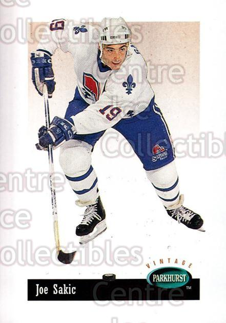 1994-95 Parkhurst Vintage #34 Joe Sakic<br/>2 In Stock - $1.00 each - <a href=https://centericecollectibles.foxycart.com/cart?name=1994-95%20Parkhurst%20Vintage%20%2334%20Joe%20Sakic...&price=$1.00&code=273060 class=foxycart> Buy it now! </a>