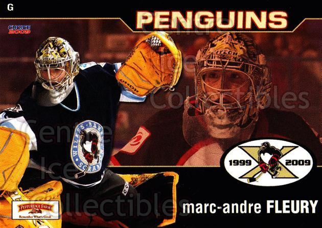 2008-09 Wilkes-Barre Scranton Penguins #13 Marc-Andre Fleury<br/>3 In Stock - $5.00 each - <a href=https://centericecollectibles.foxycart.com/cart?name=2008-09%20Wilkes-Barre%20Scranton%20Penguins%20%2313%20Marc-Andre%20Fleu...&quantity_max=3&price=$5.00&code=273077 class=foxycart> Buy it now! </a>