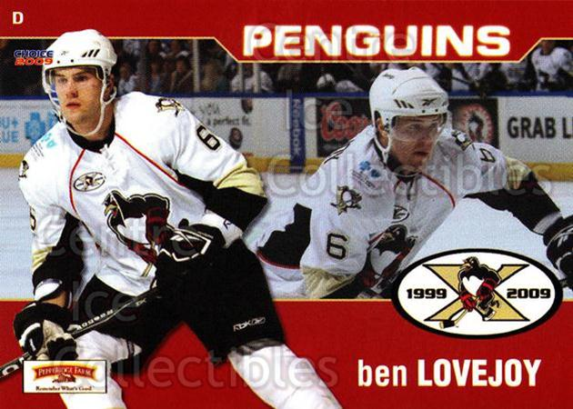 2008-09 Wilkes-Barre Scranton Penguins #23 Ben Lovejoy<br/>9 In Stock - $3.00 each - <a href=https://centericecollectibles.foxycart.com/cart?name=2008-09%20Wilkes-Barre%20Scranton%20Penguins%20%2323%20Ben%20Lovejoy...&quantity_max=9&price=$3.00&code=273087 class=foxycart> Buy it now! </a>