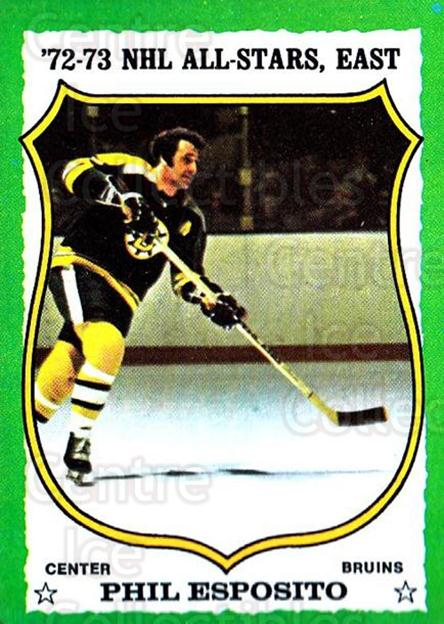 1973-74 Topps #120 Phil Esposito<br/>2 In Stock - $5.00 each - <a href=https://centericecollectibles.foxycart.com/cart?name=1973-74%20Topps%20%23120%20Phil%20Esposito...&quantity_max=2&price=$5.00&code=273307 class=foxycart> Buy it now! </a>