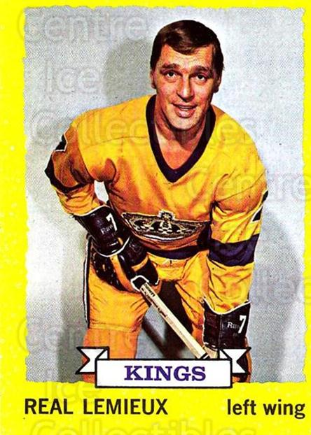 1973-74 Topps #122 Real Lemieux<br/>3 In Stock - $3.00 each - <a href=https://centericecollectibles.foxycart.com/cart?name=1973-74%20Topps%20%23122%20Real%20Lemieux...&price=$3.00&code=273309 class=foxycart> Buy it now! </a>
