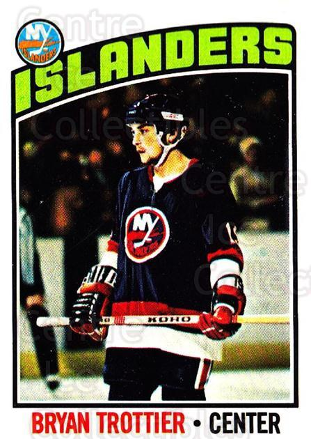 1976-77 Topps #115 Bryan Trottier<br/>4 In Stock - $20.00 each - <a href=https://centericecollectibles.foxycart.com/cart?name=1976-77%20Topps%20%23115%20Bryan%20Trottier...&price=$20.00&code=273525 class=foxycart> Buy it now! </a>