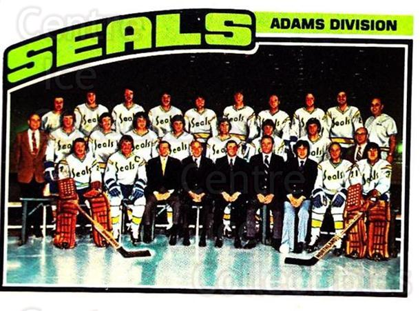 1976-77 Topps #135 California Golden Seals, Checklist<br/>3 In Stock - $3.00 each - <a href=https://centericecollectibles.foxycart.com/cart?name=1976-77%20Topps%20%23135%20California%20Gold...&quantity_max=3&price=$3.00&code=273545 class=foxycart> Buy it now! </a>