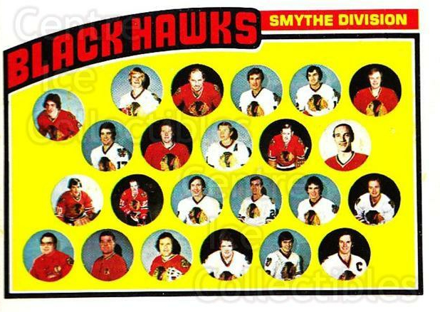 1976-77 Topps #136 Chicago Blackhawks, Checklist<br/>6 In Stock - $3.00 each - <a href=https://centericecollectibles.foxycart.com/cart?name=1976-77%20Topps%20%23136%20Chicago%20Blackha...&quantity_max=6&price=$3.00&code=273546 class=foxycart> Buy it now! </a>