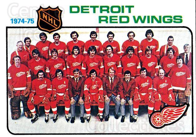 1975-76 Topps #87 Detroit Red Wings, Checklist<br/>3 In Stock - $2.00 each - <a href=https://centericecollectibles.foxycart.com/cart?name=1975-76%20Topps%20%2387%20Detroit%20Red%20Win...&quantity_max=3&price=$2.00&code=273761 class=foxycart> Buy it now! </a>