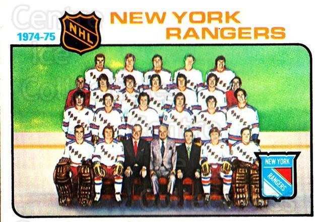 1975-76 Topps #94 New York Rangers, Checklist<br/>2 In Stock - $2.00 each - <a href=https://centericecollectibles.foxycart.com/cart?name=1975-76%20Topps%20%2394%20New%20York%20Ranger...&quantity_max=2&price=$2.00&code=273768 class=foxycart> Buy it now! </a>
