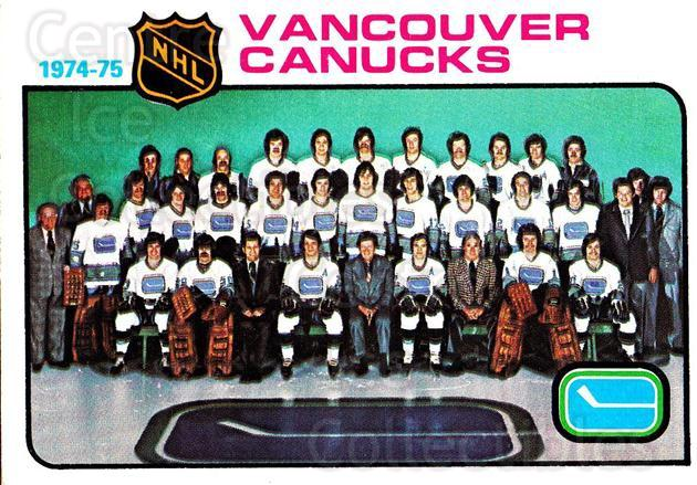 1975-76 Topps #97 Vancouver Canucks, Checklist<br/>2 In Stock - $2.00 each - <a href=https://centericecollectibles.foxycart.com/cart?name=1975-76%20Topps%20%2397%20Vancouver%20Canuc...&quantity_max=2&price=$2.00&code=273771 class=foxycart> Buy it now! </a>