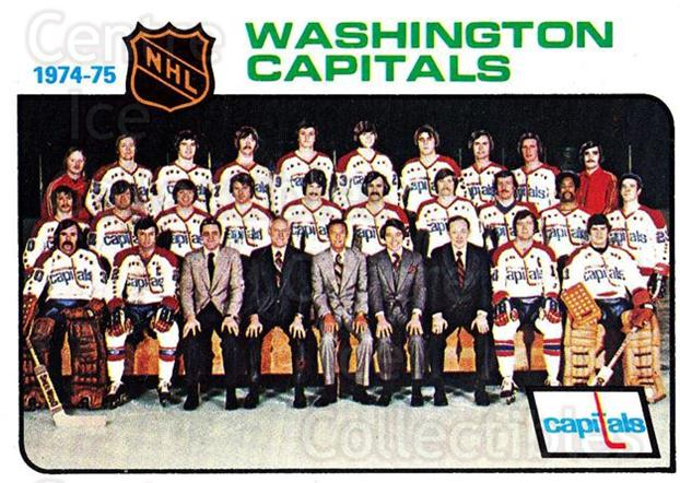 1975-76 Topps #98 Washington Capitals, Checklist<br/>2 In Stock - $2.00 each - <a href=https://centericecollectibles.foxycart.com/cart?name=1975-76%20Topps%20%2398%20Washington%20Capi...&quantity_max=2&price=$2.00&code=273772 class=foxycart> Buy it now! </a>