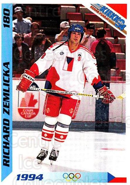 1994 Finnish Jaa Kiekko #180 Richard Zemlicka<br/>1 In Stock - $2.00 each - <a href=https://centericecollectibles.foxycart.com/cart?name=1994%20Finnish%20Jaa%20Kiekko%20%23180%20Richard%20Zemlick...&quantity_max=1&price=$2.00&code=2738 class=foxycart> Buy it now! </a>