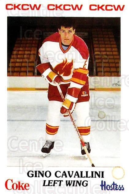 1984-85 Moncton Golden Flames #26 Gino Cavallini<br/>3 In Stock - $3.00 each - <a href=https://centericecollectibles.foxycart.com/cart?name=1984-85%20Moncton%20Golden%20Flames%20%2326%20Gino%20Cavallini...&quantity_max=3&price=$3.00&code=27393 class=foxycart> Buy it now! </a>