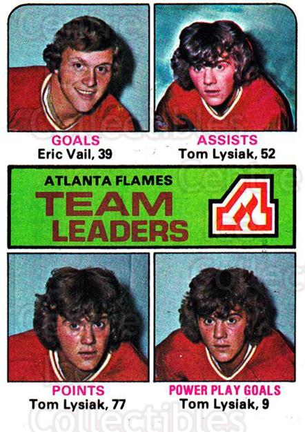 1975-76 Topps #313 Eric Vail, Tom Lysiak<br/>1 In Stock - $1.00 each - <a href=https://centericecollectibles.foxycart.com/cart?name=1975-76%20Topps%20%23313%20Eric%20Vail,%20Tom%20...&quantity_max=1&price=$1.00&code=273987 class=foxycart> Buy it now! </a>