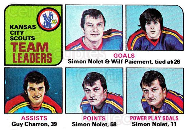 1975-76 Topps #319 Simon Nolet, Wilf Paiement, Guy Charron<br/>1 In Stock - $1.00 each - <a href=https://centericecollectibles.foxycart.com/cart?name=1975-76%20Topps%20%23319%20Simon%20Nolet,%20Wi...&quantity_max=1&price=$1.00&code=273993 class=foxycart> Buy it now! </a>