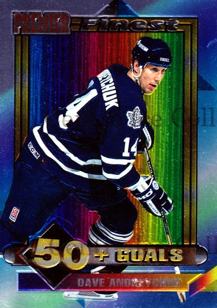 1994-95 Topps Premier Finest #4 Dave Andreychuk<br/>1 In Stock - $2.00 each - <a href=https://centericecollectibles.foxycart.com/cart?name=1994-95%20Topps%20Premier%20Finest%20%234%20Dave%20Andreychuk...&quantity_max=1&price=$2.00&code=274029 class=foxycart> Buy it now! </a>