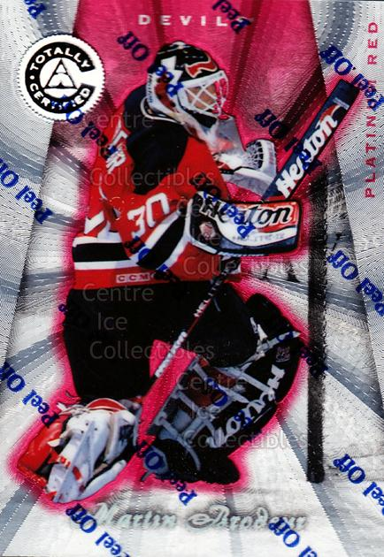 1997-98 Pinnacle Totally Certified Platinum Red #3 Martin Brodeur<br/>1 In Stock - $5.00 each - <a href=https://centericecollectibles.foxycart.com/cart?name=1997-98%20Pinnacle%20Totally%20Certified%20Platinum%20Red%20%233%20Martin%20Brodeur...&quantity_max=1&price=$5.00&code=274133 class=foxycart> Buy it now! </a>