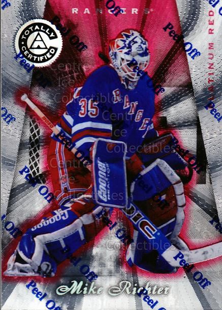 1997-98 Pinnacle Totally Certified Platinum Red #13 Mike Richter<br/>1 In Stock - $3.00 each - <a href=https://centericecollectibles.foxycart.com/cart?name=1997-98%20Pinnacle%20Totally%20Certified%20Platinum%20Red%20%2313%20Mike%20Richter...&quantity_max=1&price=$3.00&code=274143 class=foxycart> Buy it now! </a>