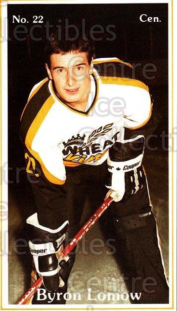 1983-84 Brandon Wheat Kings #6 Byron Lomow<br/>4 In Stock - $3.00 each - <a href=https://centericecollectibles.foxycart.com/cart?name=1983-84%20Brandon%20Wheat%20Kings%20%236%20Byron%20Lomow...&quantity_max=4&price=$3.00&code=27416 class=foxycart> Buy it now! </a>