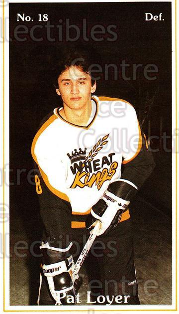 1983-84 Brandon Wheat Kings #7 Pat Loyer<br/>4 In Stock - $3.00 each - <a href=https://centericecollectibles.foxycart.com/cart?name=1983-84%20Brandon%20Wheat%20Kings%20%237%20Pat%20Loyer...&quantity_max=4&price=$3.00&code=27417 class=foxycart> Buy it now! </a>