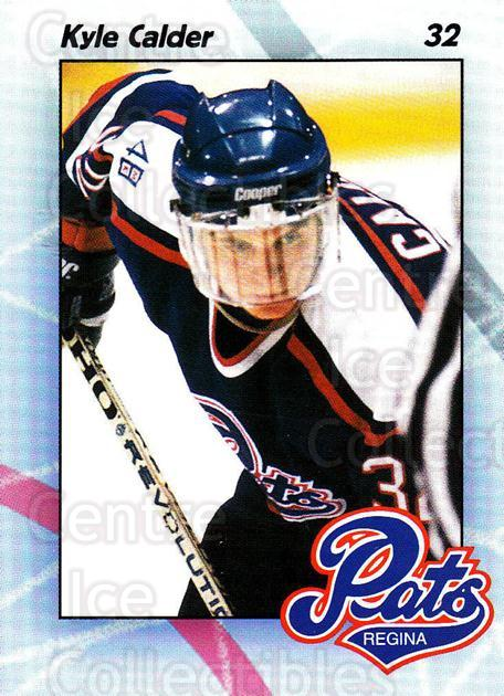 1996-97 Regina Pats #9 Kyle Calder<br/>7 In Stock - $3.00 each - <a href=https://centericecollectibles.foxycart.com/cart?name=1996-97%20Regina%20Pats%20%239%20Kyle%20Calder...&quantity_max=7&price=$3.00&code=274180 class=foxycart> Buy it now! </a>