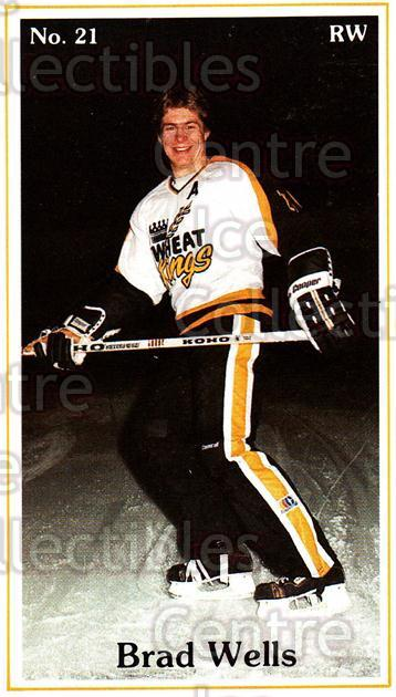 1983-84 Brandon Wheat Kings #9 Brad Wells<br/>5 In Stock - $3.00 each - <a href=https://centericecollectibles.foxycart.com/cart?name=1983-84%20Brandon%20Wheat%20Kings%20%239%20Brad%20Wells...&quantity_max=5&price=$3.00&code=27419 class=foxycart> Buy it now! </a>
