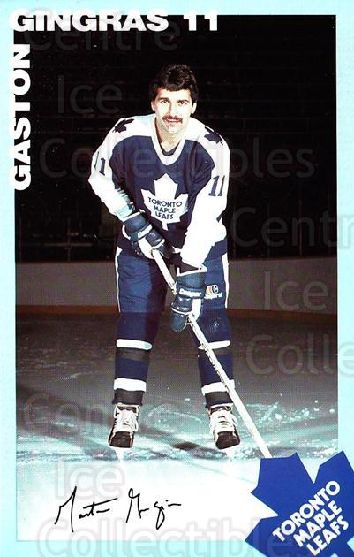 1983-84 Toronto Maple Leafs Postcards #8 Gaston Gingras<br/>2 In Stock - $3.00 each - <a href=https://centericecollectibles.foxycart.com/cart?name=1983-84%20Toronto%20Maple%20Leafs%20Postcards%20%238%20Gaston%20Gingras...&quantity_max=2&price=$3.00&code=274325 class=foxycart> Buy it now! </a>