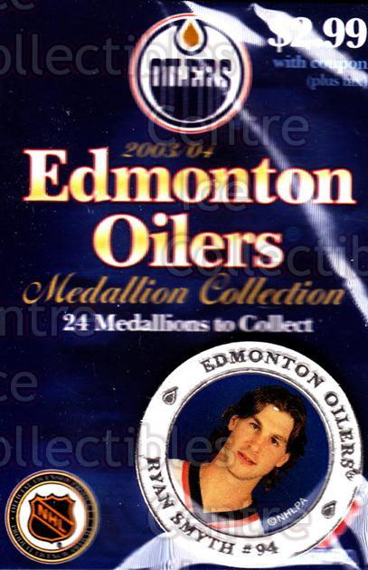 2003-04 Edmonton Oilers Medallion #19 Ryan Smyth<br/>2 In Stock - $5.00 each - <a href=https://centericecollectibles.foxycart.com/cart?name=2003-04%20Edmonton%20Oilers%20Medallion%20%2319%20Ryan%20Smyth...&quantity_max=2&price=$5.00&code=274365 class=foxycart> Buy it now! </a>
