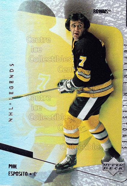 2000-01 Upper Deck Legends Supreme Milestones #13 Phil Esposito<br/>10 In Stock - $2.00 each - <a href=https://centericecollectibles.foxycart.com/cart?name=2000-01%20Upper%20Deck%20Legends%20Supreme%20Milestones%20%2313%20Phil%20Esposito...&quantity_max=10&price=$2.00&code=274431 class=foxycart> Buy it now! </a>