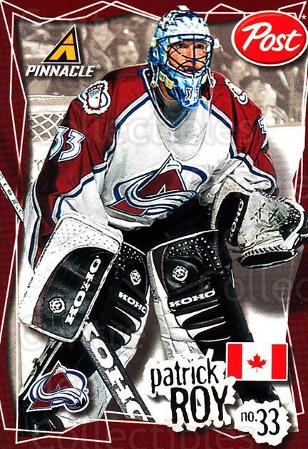 1997-98 Post Cereal Worlds Best #2 Patrick Roy<br/>4 In Stock - $5.00 each - <a href=https://centericecollectibles.foxycart.com/cart?name=1997-98%20Post%20Cereal%20Worlds%20Best%20%232%20Patrick%20Roy...&quantity_max=4&price=$5.00&code=274438 class=foxycart> Buy it now! </a>