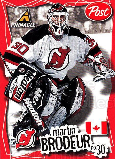 1997-98 Post Cereal Worlds Best #8 Martin Brodeur<br/>3 In Stock - $3.00 each - <a href=https://centericecollectibles.foxycart.com/cart?name=1997-98%20Post%20Cereal%20Worlds%20Best%20%238%20Martin%20Brodeur...&price=$3.00&code=274439 class=foxycart> Buy it now! </a>