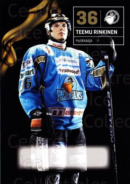 2010-11 Finnish Pelicans Postcards #14 Teemu Rinkinen<br/>5 In Stock - $3.00 each - <a href=https://centericecollectibles.foxycart.com/cart?name=2010-11%20Finnish%20Pelicans%20Postcards%20%2314%20Teemu%20Rinkinen...&quantity_max=5&price=$3.00&code=274522 class=foxycart> Buy it now! </a>
