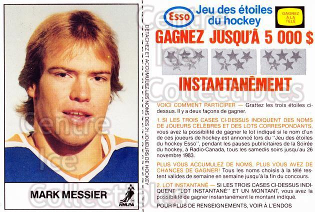 1983-84 Esso French #13 Mark Messier<br/>1 In Stock - $3.00 each - <a href=https://centericecollectibles.foxycart.com/cart?name=1983-84%20Esso%20French%20%2313%20Mark%20Messier...&quantity_max=1&price=$3.00&code=27455 class=foxycart> Buy it now! </a>